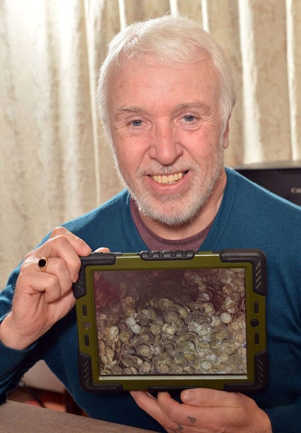 Metal detector hunter's £1.3MILLION coin find declared official treasure trove - and he'll get a big share Image-B0C9_563B744E